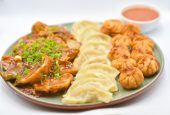 Momo platter of 30 piece veg.
