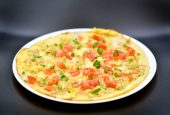 Thin rice flour pancake topped with choice of meat, onion, tomato coriander and egg